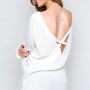 In The Evening Sweater Top - Ivory
