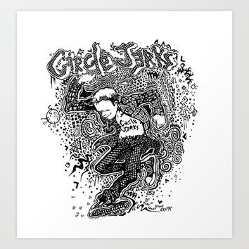 Circle Jerks Art Print by Travis Poston