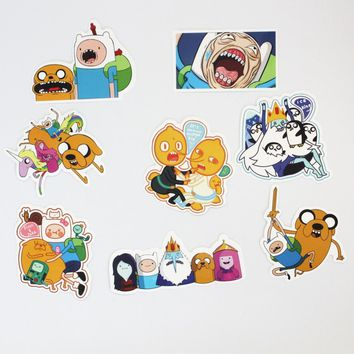 8Pcs/Lot American Drama adventure time  Sticker Decal For Car Laptop Bicycle Motorcycle Notebook Waterproof Stickers