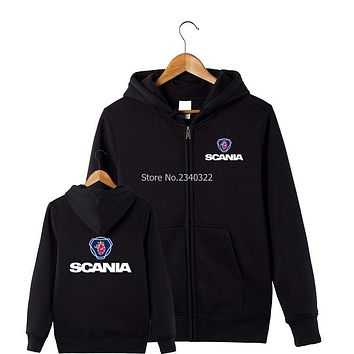 trucker fans Scania sweatshirt anniversary version coats men and women work jackets