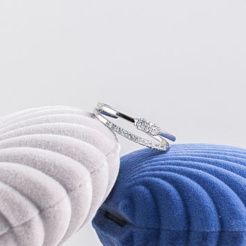 Double Deck Silver Ribbon Ring