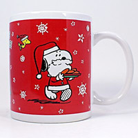 Snoopy Seasons Greetings Coffee Mug Cup 12oz Peanuts Woodstock Galerie k463