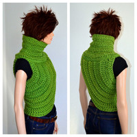 Katniss Inspired Hand Crocheted Cowl in Oklahoma City Green