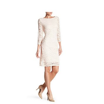Women's Light Blush Pink Sequins Laced Dress