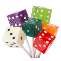 Dice Lollipops - Assorted: 24-Piece Box