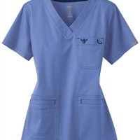 Med Couture Moda modern fit v-neck scrub top | Scrubs & Beyond