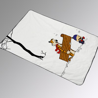 Calvin and hobbes winter Kids Blankets Christmas Bedding Gift Birthdays Quilts