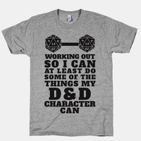 Working Out So I Can Do At Least Some Of The Thing My D&D Character Can