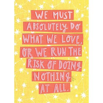 Risk of Doing Nothing Card