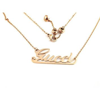 GUCCI New fashion letter personality necklace women Rose Gold