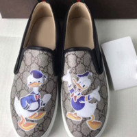 Gucci Fashion Trending Casual Flowers Design Loafer Shoes Flat Shoes Donald Duck G