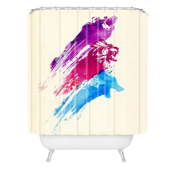 Robert Farkas Wild Colours Shower Curtain