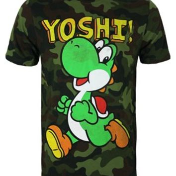 Nintendo It's Yoshi Men's Camouflage T-Shirt - Buy Online at Grindstore.com