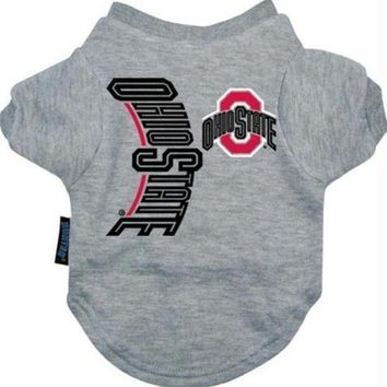PEAPYW9 Ohio State Buckeyes Dog Tee Shirt