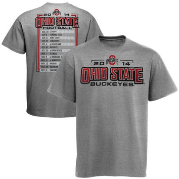 Ohio State Buckeyes Football Schedule T-Shirt - Gray