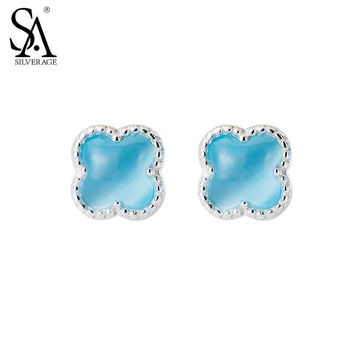 SA SILVERAGE Real 925 Sterling Silver Stud Earring