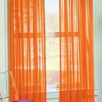 S. Lichtenberg 59 by 63-Inch Calypso Curtain Panel, Orange