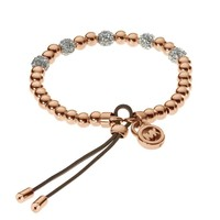 Michael Kors Brilliance Bead Stretch Bracelet, Rose Golden