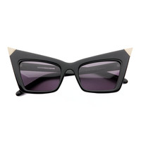alexander wang - alexander wang by linda farrow pointed cat eye sunglasses (black) - Alexander Wang | 80's Purple