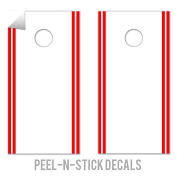 Classic Stripe Edge - White, Red Decals