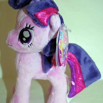 "Licensed cool 6"" DELUXE My Little Pony Plush Twilight Sparkle Toy Doll Plushie Star Cutie Mark"