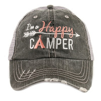 I'm a Happy Camper Trucker hats, baseball hats