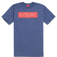 Visual by Van Styles Core Logo T-Shirt - Mens Tee - Blue