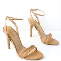 Iggy Almond Ankle Strap Heels