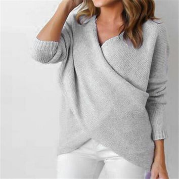 criss cross loose fit baggy sweater  number 1