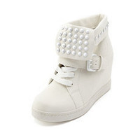 Studded Fold-Over Wedge Sneaker: Charlotte Russe