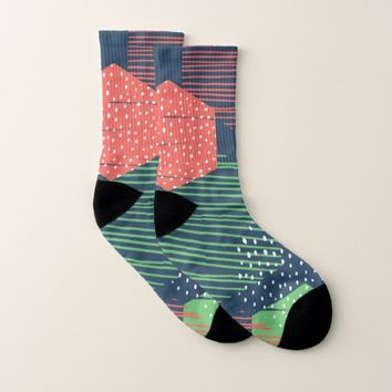 Abstract Style Socks