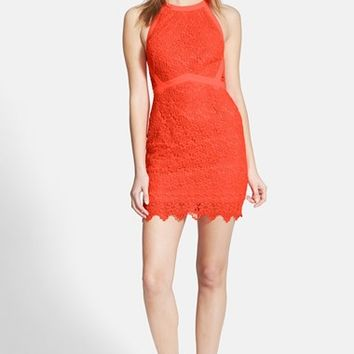 Women's ASTR Crochet Body-Con Dress,
