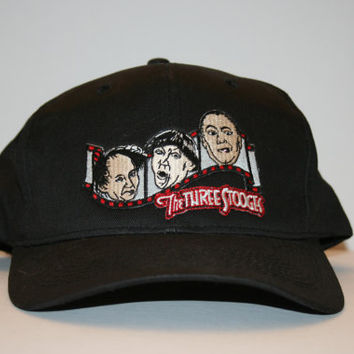 The Three Stooges Vintage embroided baseball hat, the 3 Stooges,movies, dolls, fabric