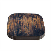 "Susan Sanders ""Barn Floor"" Rustic Coasters (Set of 4)"