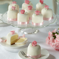 Vintage Rose Wedding Mini Cakes x 10 | M&S