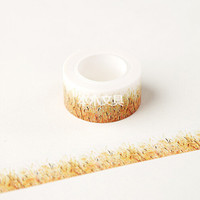 JG316 2CM Wide Golden Wheat Field Washi Tape DIY Scrapbooking Sticker Label Masking Tape School Office Supply