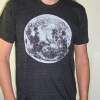 Space Moon guys trac T Shirt by circularaccessories on Etsy