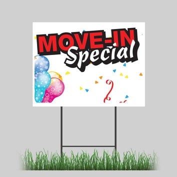 """18""""x24"""" Move In Special Yard Sign Storage Rental Apartment Home Sign"""