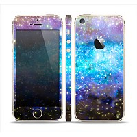 The Glowing Space Texture Skin Set for the Apple iPhone 5s