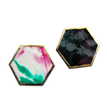So into this design on Fab! Juicy Galaxy Coasters Set Of 2 #FabForAll