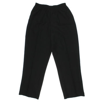 Alfred Dunner Womens Plus Solid Pull On Dress Pants