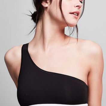 Calvin Klein Modern Cotton One Shoulder Bralette - Urban Outfitters