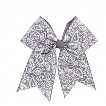 Parker Paisley Monogrammed Hair Bow