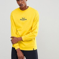 HUF Long Sleeve T-Shirt With Worldwide Chest Logo at asos.com