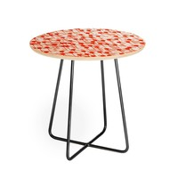 Summer Abstract 01 Round Side Table Viviana Gonzalez