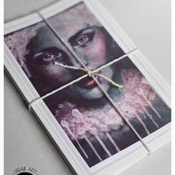 Blank Greeting Cards Pack 5  Urban Arts by BluegrinCo on Etsy