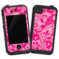 "Pink Flower Power ""Protective Decal Skin"" for LifeProof iPhone 4/4s Case"