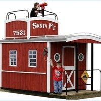 Casey's Caboose Wooden Playhouse