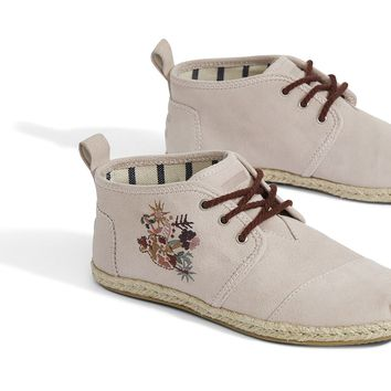 BLUSH SUEDE FLORAL WOMEN'S BOTA BOOTS