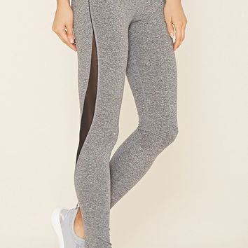Active Mesh-Paneled Leggings | Forever 21 - 2000160573